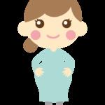 かわいい妊婦さんのイラスト