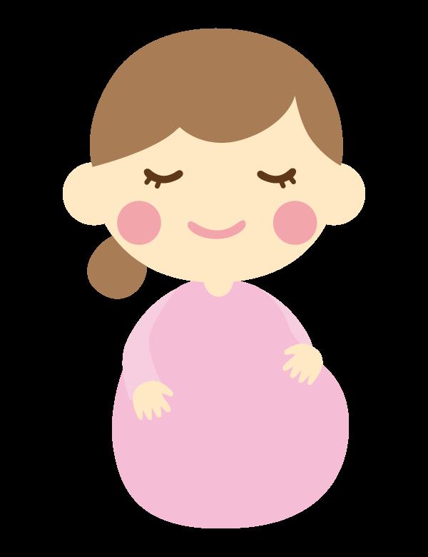 かわいい妊婦さんのイラスト02