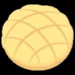 メロンパン(バター)のイラスト