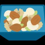 お皿に入ったミックスナッツのイラスト