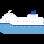 大きな客船のイラスト