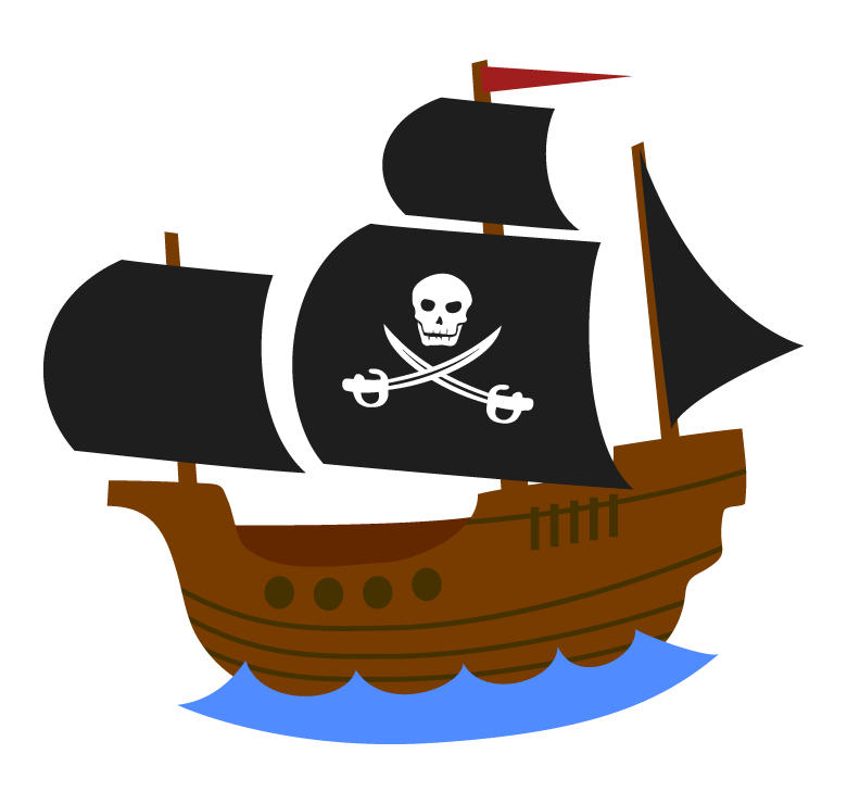 海賊船のイラスト