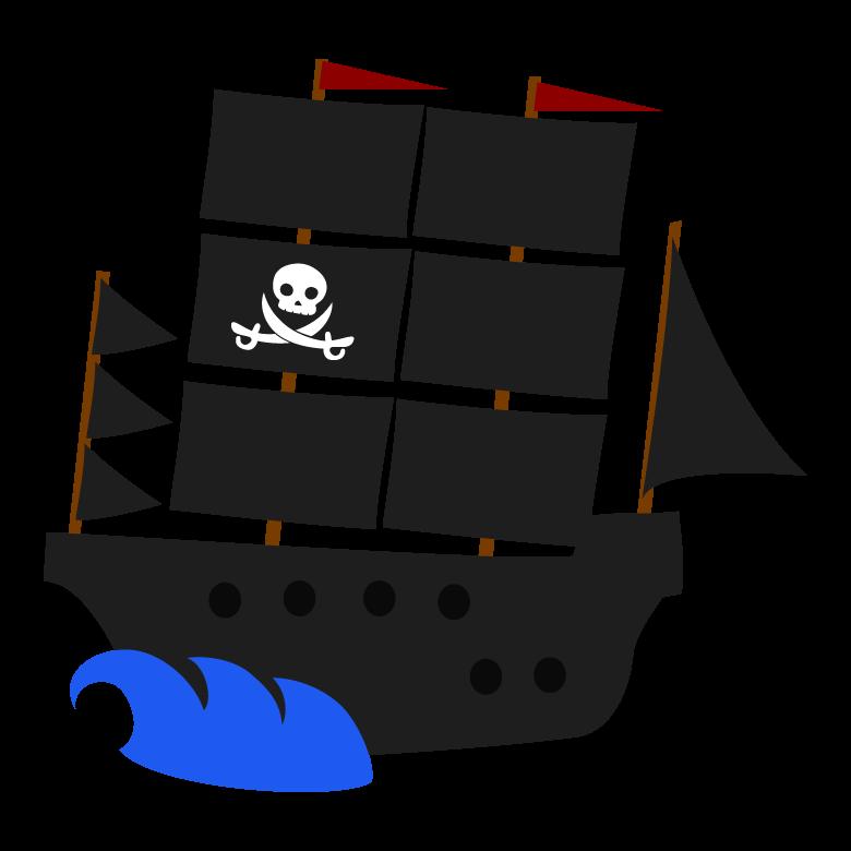 海賊船のイラスト02