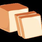 スライスした食パンのイラスト
