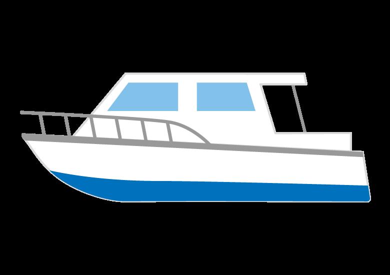 プレジャーボートのイラスト