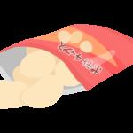 袋のあいたポテトチップスのイラスト