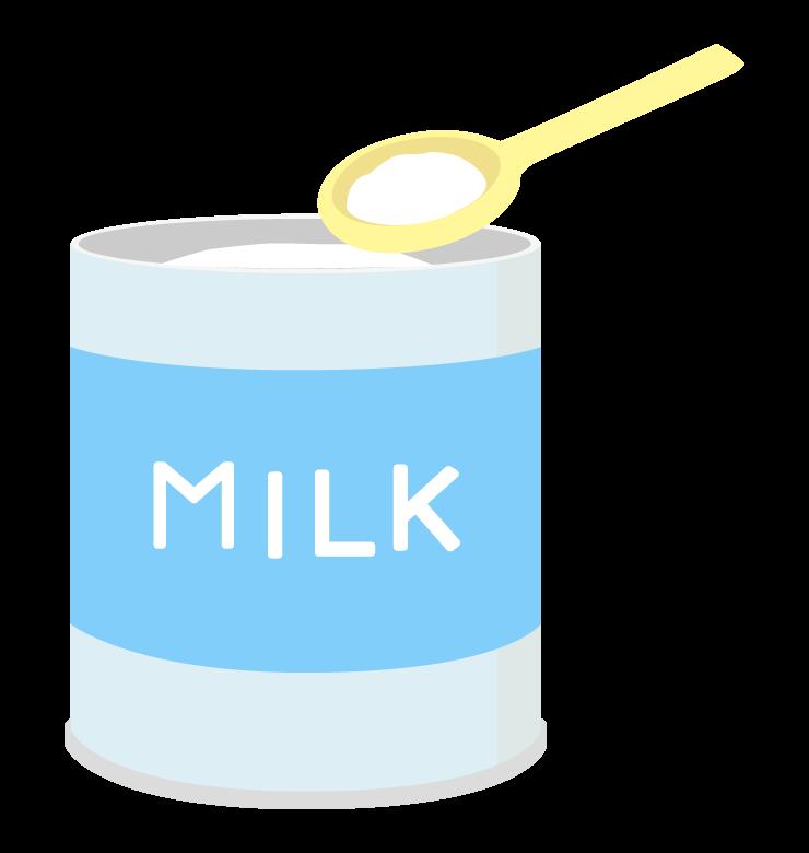 粉ミルクのイラスト