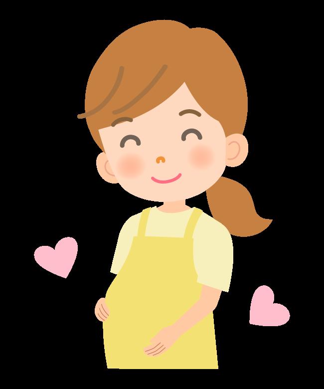 笑顔の妊婦さんのイラスト02