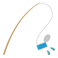 釣り/空き缶のイラスト