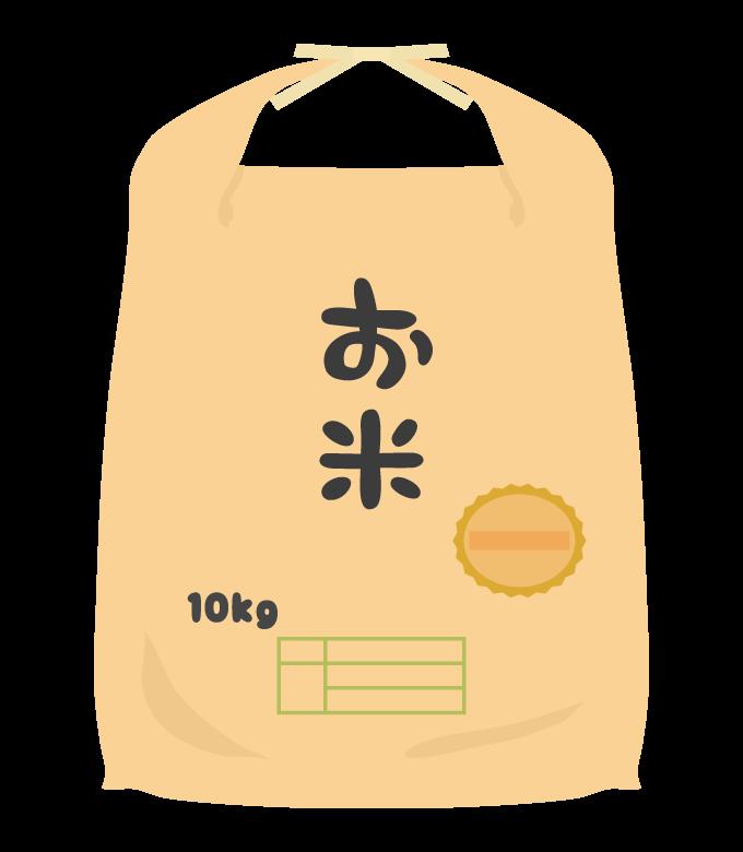 米袋に入ったお米のイラスト