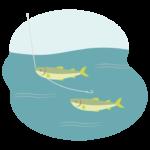 川釣り/渓流釣りのイラスト
