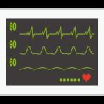 心電図モニターのイラスト