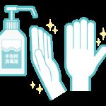 手の除菌のイラスト