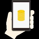 仮想通貨取引のイラスト