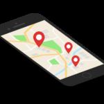 スマホの地図アプリ/マーカーのイラスト