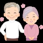 笑顔のおじいちゃんとおばあちゃんのイラスト03