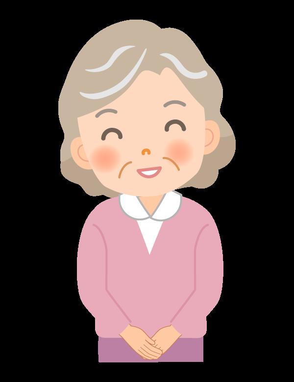 笑顔のおばあちゃんのイラスト06