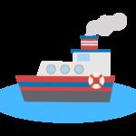 蒸気船のイラスト