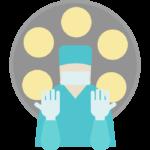 手術/オペをするお医者さんのイラスト