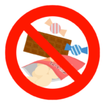 お菓子やスイーツ禁止のイラスト02