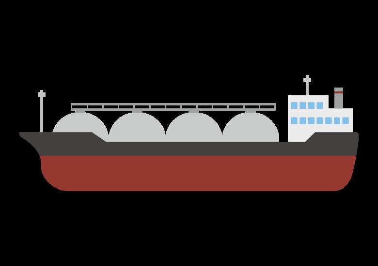 タンカー船のイラスト