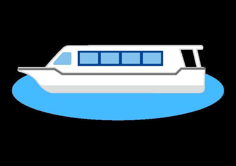 水上バスのイラスト