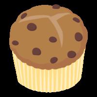 チョコチップマフィンのイラスト
