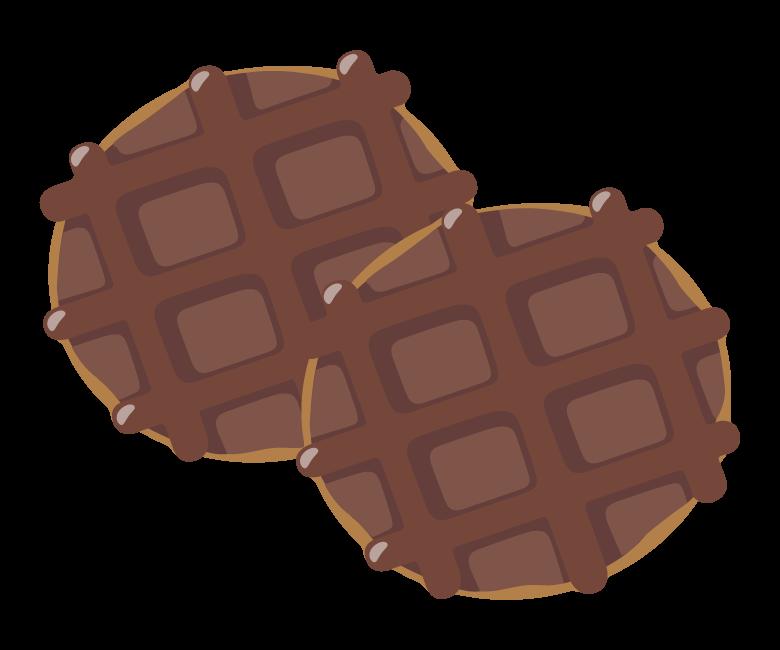 チョコレートワッフルのイラスト