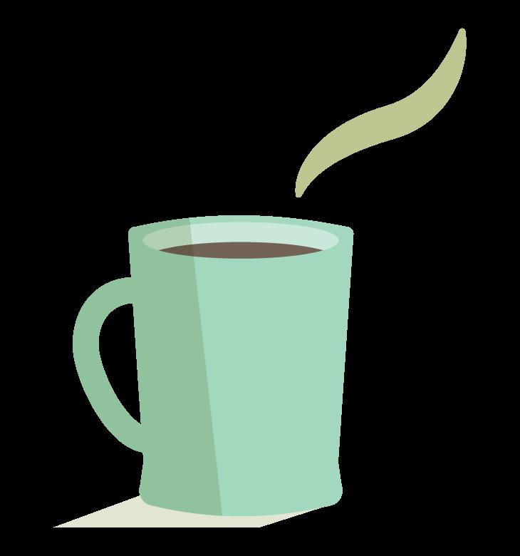 ホットコーヒー/カフェのイラスト