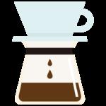 ドリップ中のコーヒーのイラスト