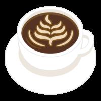 コーヒー/ラテアートのイラスト