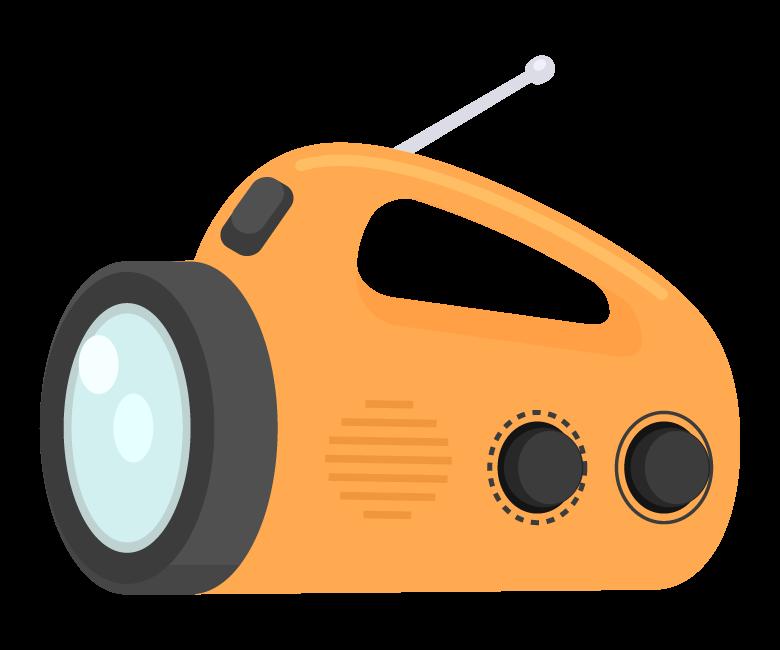 防災ラジオのイラスト