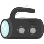 防災ラジオ/多機能ラジオのイラスト