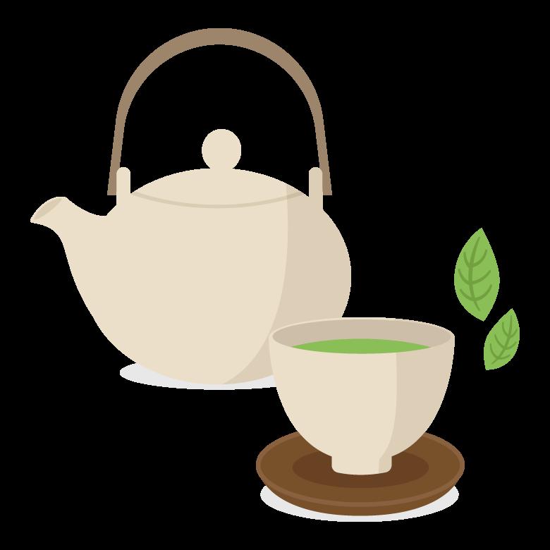 お茶/急須/湯呑のイラスト