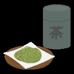 茶葉と茶筒のイラスト