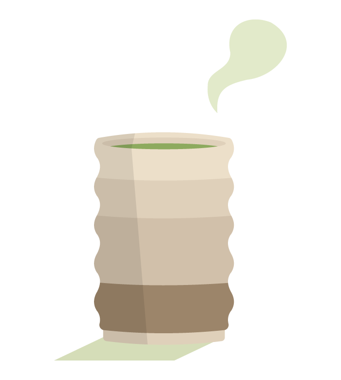 緑茶/お茶/日本茶のイラスト02