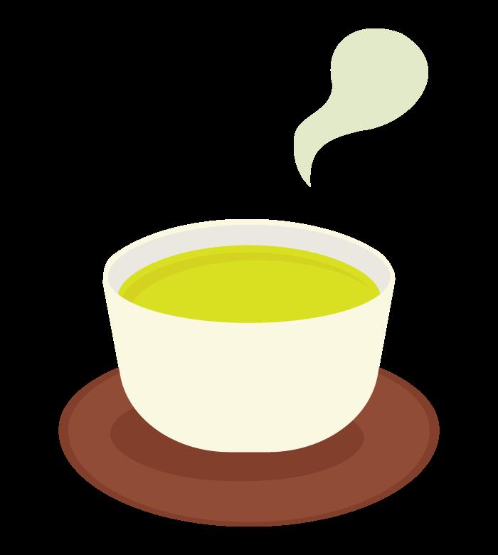 緑茶/お茶/湯呑のイラスト