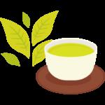 緑茶と茶葉/新茶のイラスト