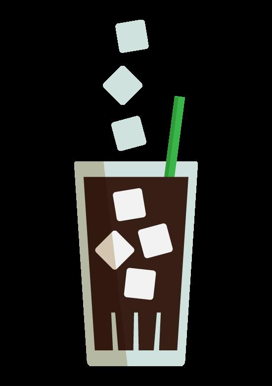 アイスコーヒーのイラスト02