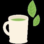 マグカップとお茶のイラスト