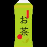 ペットボトルの緑茶/お茶のイラスト