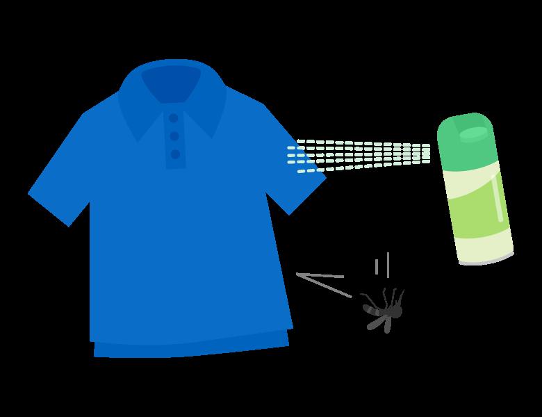 虫除け/防虫スプレーのイラスト