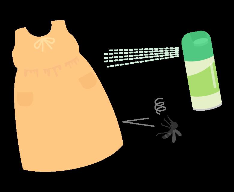 虫除け/防虫スプレーのイラスト02