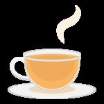 紅茶/ガラスカップのイラスト