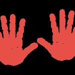 両手の手形のイラスト