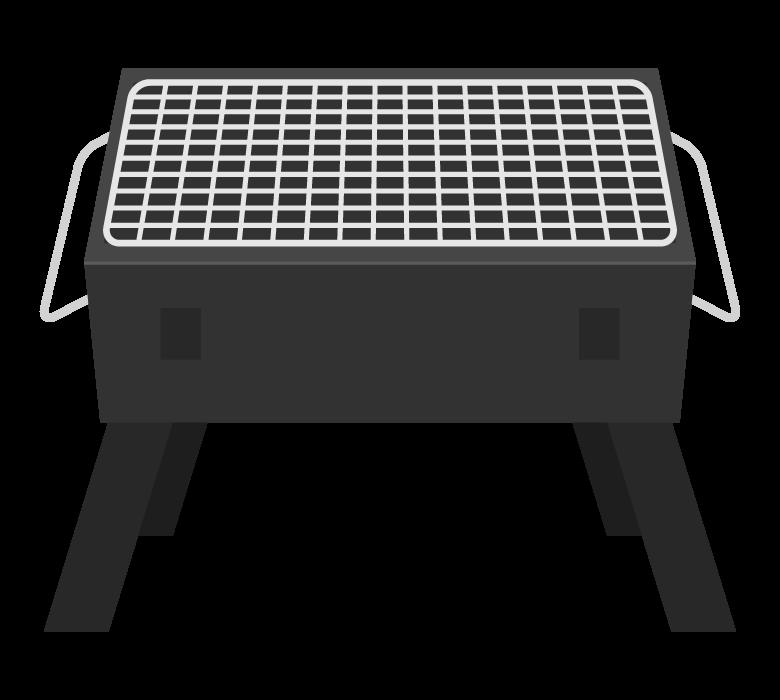 バーベキュー(BBQ)コンロのイラスト