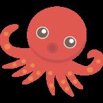 かわいいタコ/蛸のイラスト