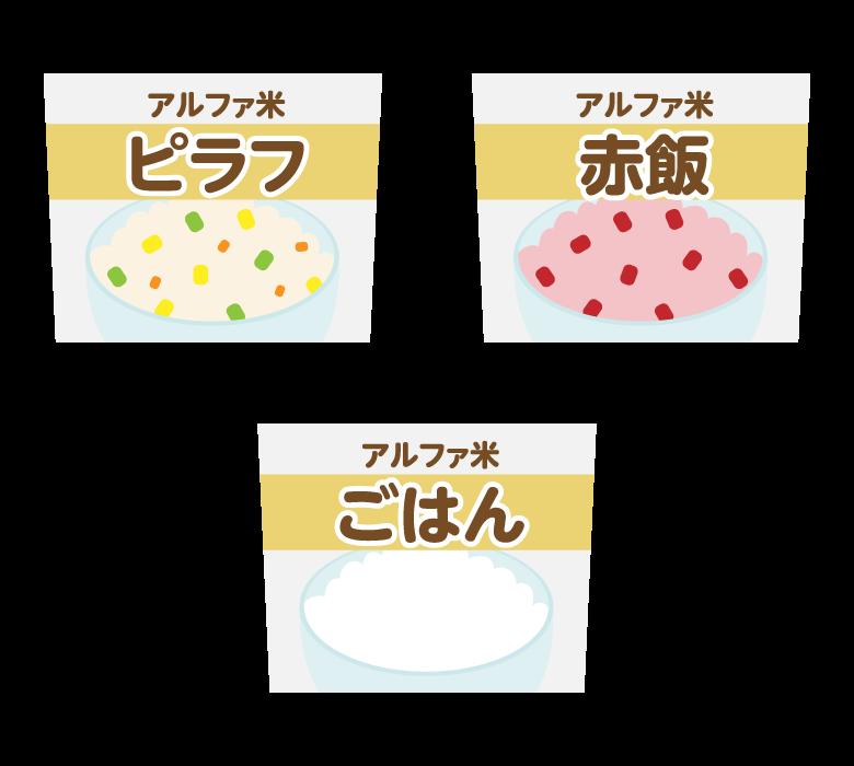 アルファ化米のイラスト