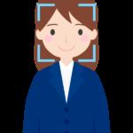 顔認証(女性)のイラスト
