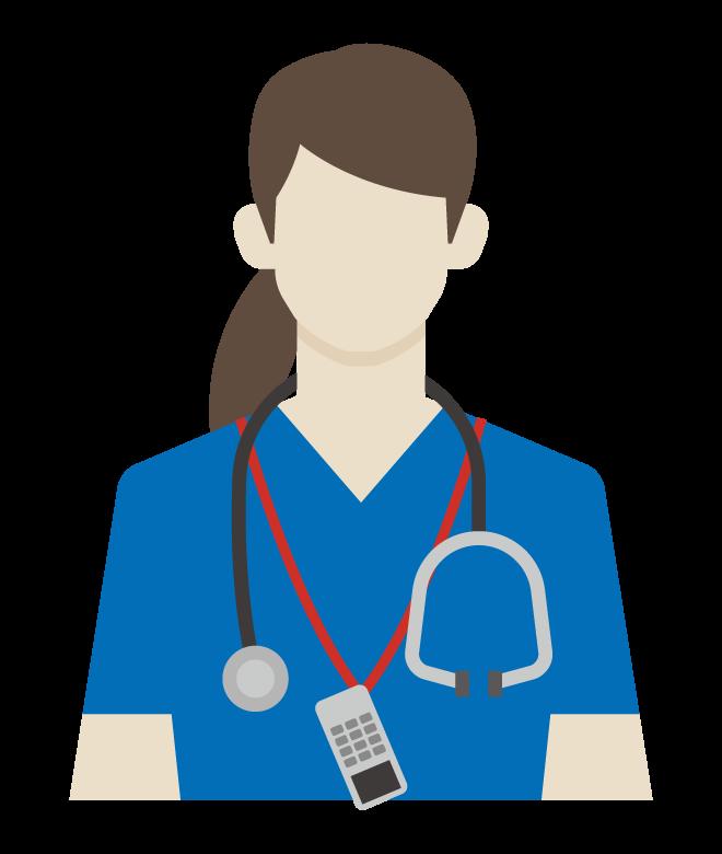 女医/女性のお医者さん/看護師のイラスト